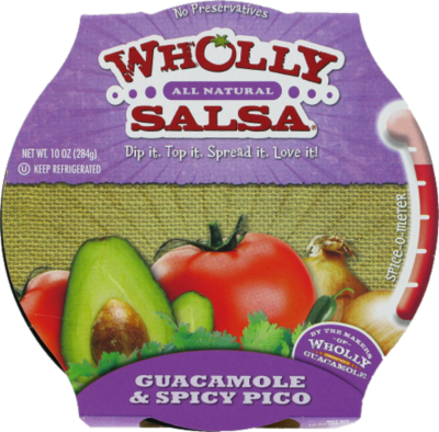 Guacamole Dip, Wholly Guacamole® Guacamole & Spicy Pico Dip (10 oz Tub)