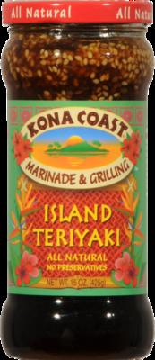 Teriyaki Sauce, Kona Coast® Island Teriyaki Marinade & Grilling Sauce (15 oz Bottle)