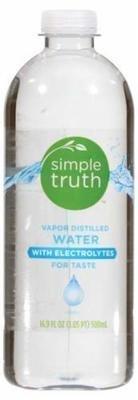 Distilled Water, Simple Truth™ Vapor Distilled Water (16.9 Bottle)