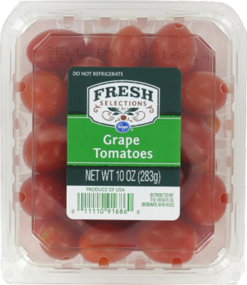 Vegetables, Tomatoes, Fresh Selections® Grape Tomatoes (10 oz Tray)