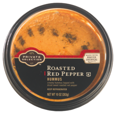 Hummus, Private Selection® Roasted Red Pepper Hummus (10 oz Tub)