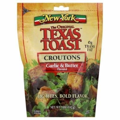Salad Croutons, New York Texas Toast® Garlic & Butter Croutons (5 oz Bag)