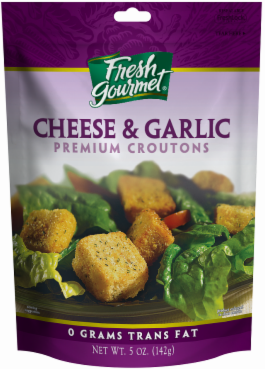 Salad Croutons, Fresh Gourmet® Cheese & Garlic Croutons (5 oz Bag)