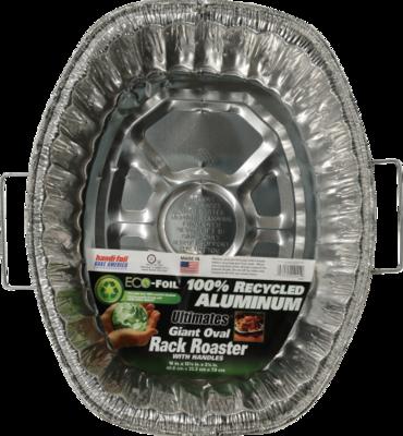 Roaster, Handi-Foil® Eco-Foil® Oval Rack Roaster with Handles (1 Count)