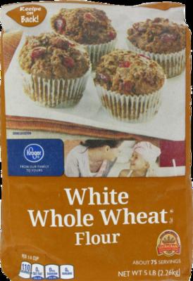 Baking Flour, Kroger® White Whole Wheat Flour (80 oz Bag)