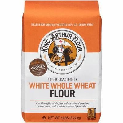 Baking Flour, King Arthur® White Whole Wheat Unbleached Flour (80 oz Bag)