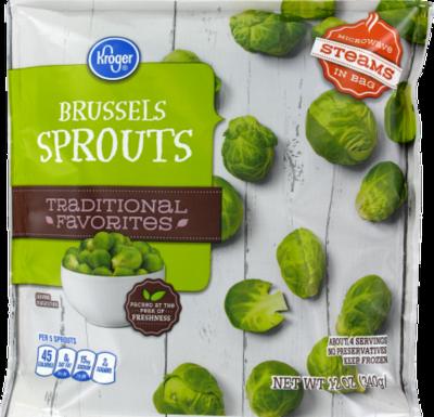 Frozen Brussels Sprouts, Kroger® Brussels Sprouts (12 oz Bag)
