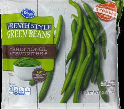 Frozen Green Beans, Kroger® French Style Green Beans (12 oz Bag)