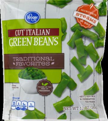 Frozen Green Beans, Kroger® Cut Italian Green Beans (12 oz Bag)
