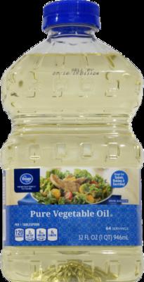 Vegetable Oil, Kroger® Pure Vegetable Oil (128 oz Bottle)