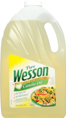 Canola Oil, Wesson® Pure Canola Oil (128 oz Bottle)