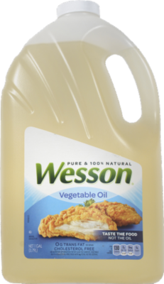 Canola Oil, Wesson® Pure Vegetable Oil (128 oz Bottle)