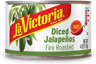 Canned Jalapenos, La Victoria® Hot Fire Roasted Diced Jalapeños (4 oz Can)