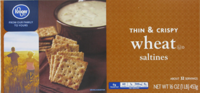 Saltine Crackers, Kroger® Thin & Crispy Saltine Wheat Crackers (16 oz Box)