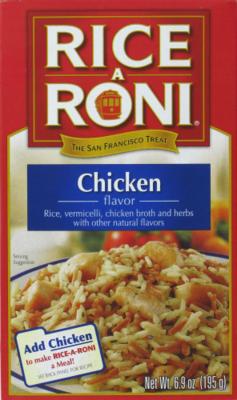Rice, Rice A Roni® Chicken Flavored Rice (6.9 oz Box)