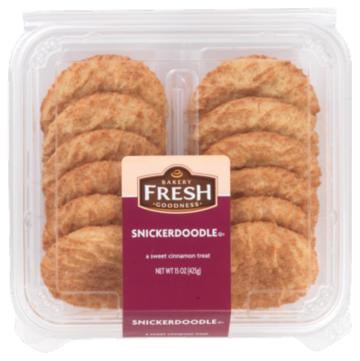 Cookies, Bakery Fresh Goodness® Snickerdoodle Cookies (15 oz Tray)