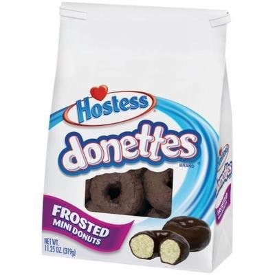 Donuts, Hostess® Donettes® Mini Frosted Chocolate Donuts (11.25 oz Bag)