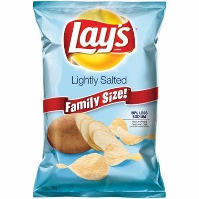 Potato Chips, Lay's® Lightly Salted Potato Chips (9.75 oz Bag)