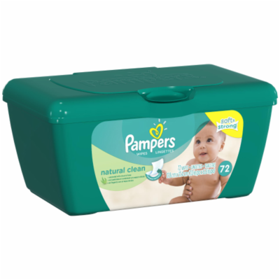 Baby Wipes, Pampers® Natural Clean Baby Wipes (72 Count Tub)