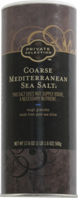Seasonings, Private Selection® Coarse Sea Salt (17.6 oz Tube)