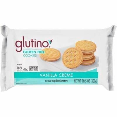 Sandwich Cookies, Glutino® Gluten Free Vanilla Creme Cookies (10.6 oz Bag)