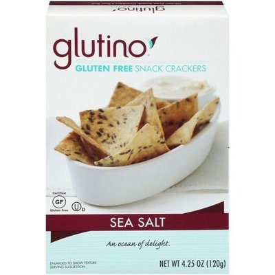 Crackers, Glutino® Gluten Free Sea Salt Snack Crackers (4.25 oz Box)