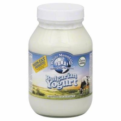 Yogurt, White Mountain® Non Fat Plain Yogurt (32 oz Jar)