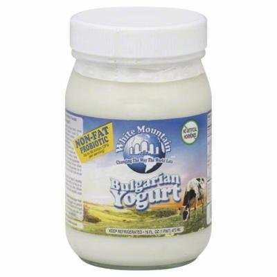 Yogurt, White Mountain® Non Fat Bulgarian Yogurt (16 oz Jar)