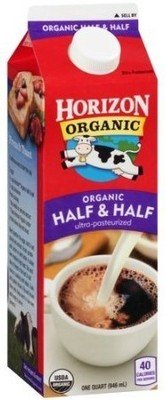 Cream, Horizon® Half and Half (1 Quart Carton)