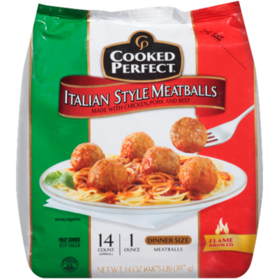 Frozen Meatballs, Cooked Perfect® Italian Style Meatballs (14 oz Bag)