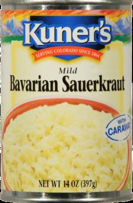 Canned Sauerkraut, Kuner's® Bavarian Sauerkraut (14 oz Can)