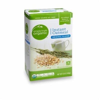 Organic Hot Cereal, Simple Truth Organic™ Instant Original Oatmeal (12 oz Box)