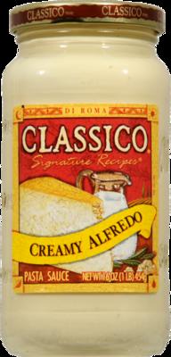 Alfredo Pasta Sauce, Classico® Creamy Alfredo Sauce (15 oz Jar)