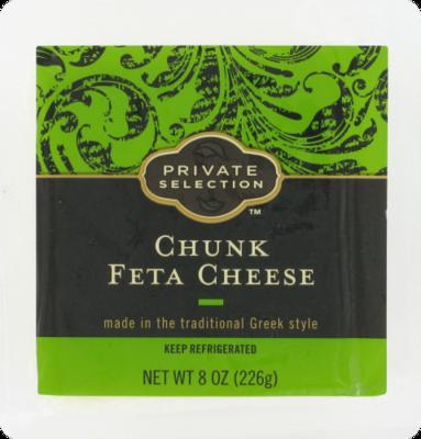 Cheese Block, Private Selection® Chunk Feta Cheese (8 oz Tray)