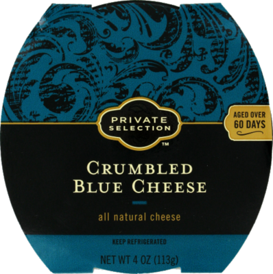 Crumbled Cheese, Private Selection® Crumbled Blue Cheese (4 oz Tray)