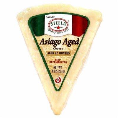 Cheese, Stella® Asiago Aged Cheese Wedge (8 oz Wedge)