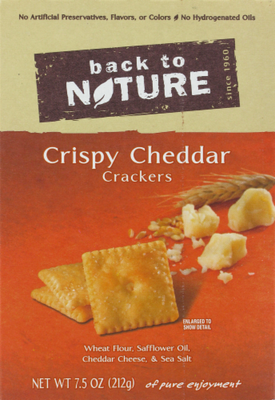 Trail Mix, Back To Nature® Crispy Cheddar Crackers (8.5 oz  Box)