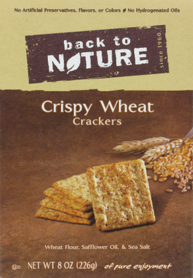 Trail Mix, Back To Nature® Crispy Wheat Crackers (8 oz  Box)