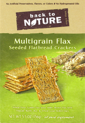 Trail Mix, Back To Nature® Multigrain Flax Seed Crackers (5.5 oz  Box)