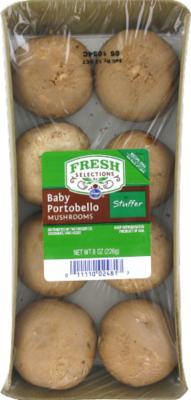 Fresh Mushrooms, Fresh Selections® Baby Portabella