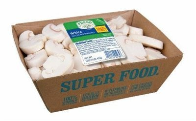 Fresh Mushrooms, Fresh Selections® Sliced White Mushrooms (16 oz Tray)