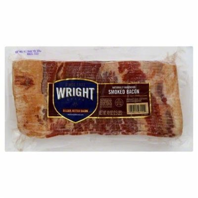 Fresh Bacon, Wright® Hickory Smoked Sliced Bacon (40 oz Bag)