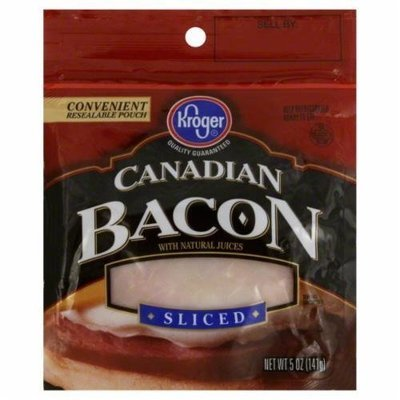 Fresh Bacon, Kroger® Sliced Canadian Bacon (5 oz Bag)