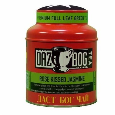 Tea, Dazbog® Rose Kissed Jasmine Tea (1.75 oz Jar)