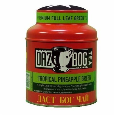 Tea, Dazbog® Tropical Pineapple Green Tea (1.75 oz Jar)