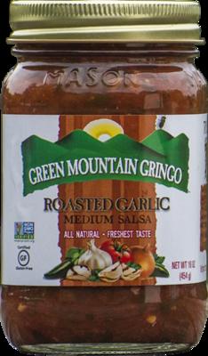 Salsa, Green Mountain Gringo® Roasted Medium Garlic Salsa (16 oz Jar)