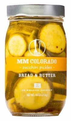 Preserved Zucchini, MM Colorado® Bread & Butter Zucchini Pickles (16 oz Jar)