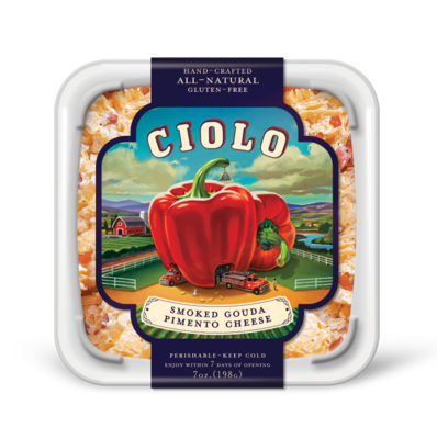Cheese Spread, Ciolo® Smoked Gouda Pimento Cheese Spread (12 oz Tub)