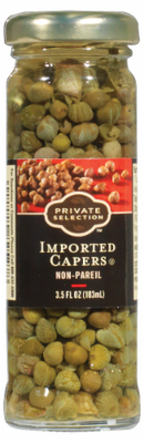 Preserved Capers, Private Selection® Non-Pareil Capers (3.5 oz Jar)