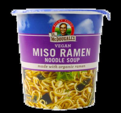 Soup, Dr. McDougall's® Vegan Miso Ramen Organic Noodle Soup (1.9 oz Cup)